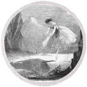 Ballet: Ondine, 1843 Round Beach Towel