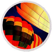 Balloon Glow 1 Round Beach Towel