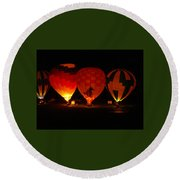 Balloons At Night Round Beach Towel