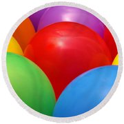 Balloons Background Round Beach Towel by Carlos Caetano