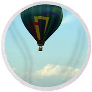 Balloons In Blue Skies  Round Beach Towel