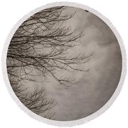 Balloons In The Pines Round Beach Towel