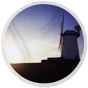Ballycopeland Windmill, Co. Down Round Beach Towel