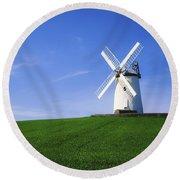 Ballycopeland Windmill, Millisle Round Beach Towel