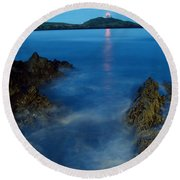 Ballycotton, County Cork, Ireland Round Beach Towel