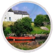 Ballycrovane, Beara Peninsula, Co Cork Round Beach Towel