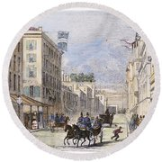 Baltimore, 1856 Round Beach Towel