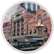 Baltimore Power Plant Round Beach Towel by Brian Wallace