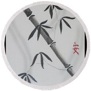 Bamboo Art Round Beach Towel