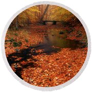 Bamboo Brook Chester New Jersey Round Beach Towel