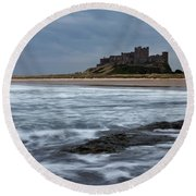 Bamburgh Castle Round Beach Towel