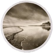 Bamburgh Castle Round Beach Towel by Simon Marsden