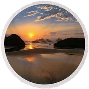 Bandon Scenic Round Beach Towel by Jean Noren