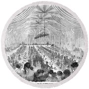 Banquet, 1851 Round Beach Towel