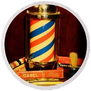 Barber - Barber Pole Round Beach Towel