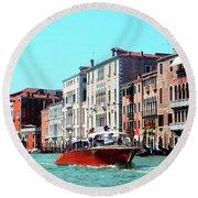 Barca Di Venezia Round Beach Towel