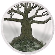 Bare Branches I Round Beach Towel