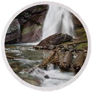 Baring Falls In Spring Round Beach Towel