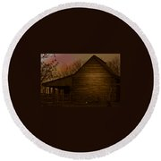 Barn After Lightroom Round Beach Towel