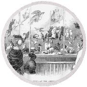 Barnums Museum, 1853 Round Beach Towel