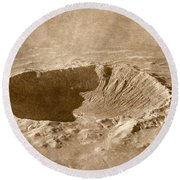 Barringer Crater Round Beach Towel