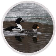 Barrows Goldeney Pair Round Beach Towel