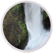 Base Of The Falls Round Beach Towel