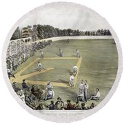 Baseball, 1866 Round Beach Towel