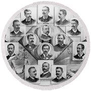 Baseball, 1894 Round Beach Towel