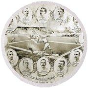 Baseball, 1895 Round Beach Towel