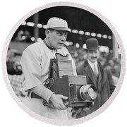 Baseball: Camera, C1911 Round Beach Towel