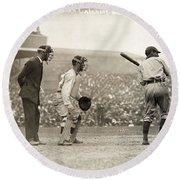 Baseball Game, 1908 Round Beach Towel