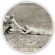 Baseball Game, C1887 Round Beach Towel