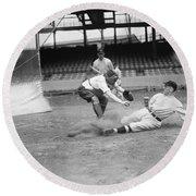 Baseball Game, C1915 Round Beach Towel