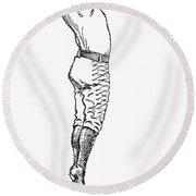 Baseball Player, 1889 Round Beach Towel