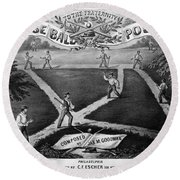 Baseball Polka, 1867 Round Beach Towel