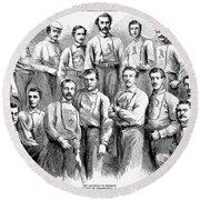 Baseball Teams, 1866 Round Beach Towel