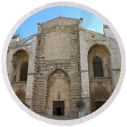 Basilica Of Saint Mary Madalene Round Beach Towel by Lainie Wrightson