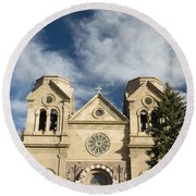 Basilica Of St Francis Round Beach Towel