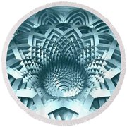 Basket Of Hyperbolae 02 Round Beach Towel