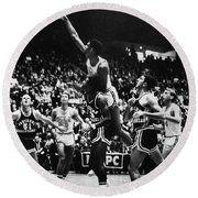 Basketball Game, 1966 Round Beach Towel