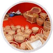 Basketwork Round Beach Towel