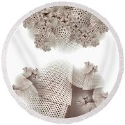 Bathed In Light Round Beach Towel