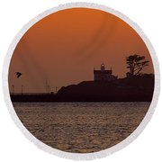 Battery Point Sunset Round Beach Towel