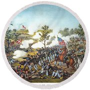 Battle Of Atlanta, 1864 Round Beach Towel