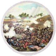 Battle Of Bull Run, 1861 Round Beach Towel