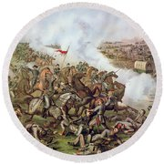 Battle Of Five Forks Virginia 1st April 1865 Round Beach Towel