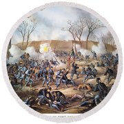 Battle Of Fort Donelson Round Beach Towel