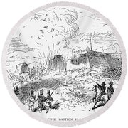 Battle Of Fort Erie, 1814 Round Beach Towel
