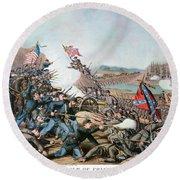 Battle Of Franklin, 1864 Round Beach Towel
